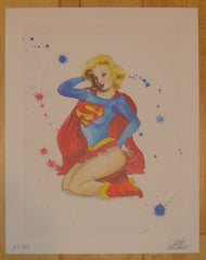 2012 Supergirl Pinup - Giclee Art Print by Lora Zombie