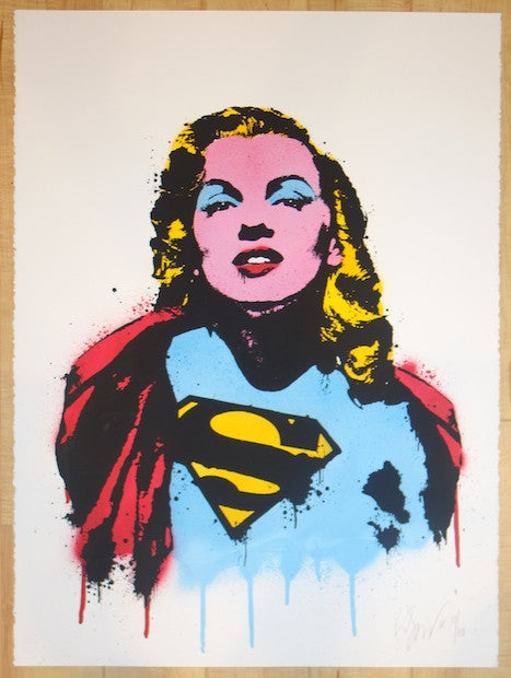 2010 Super Marilyn - Silkscreen Art Print by Rene Gagnon