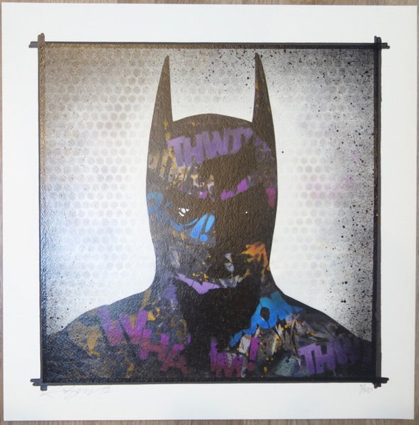 2012 Tagged Batman - Giclee Art Print by Rene Gagnon