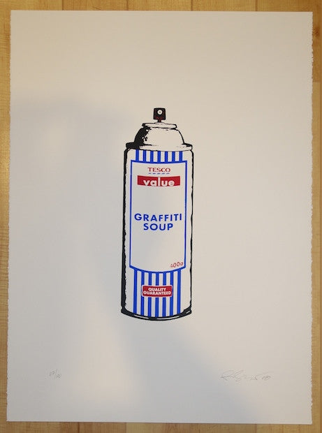 2008 Tesco Graffiti Soup - Silkscreen Art Print by Rene Gagnon