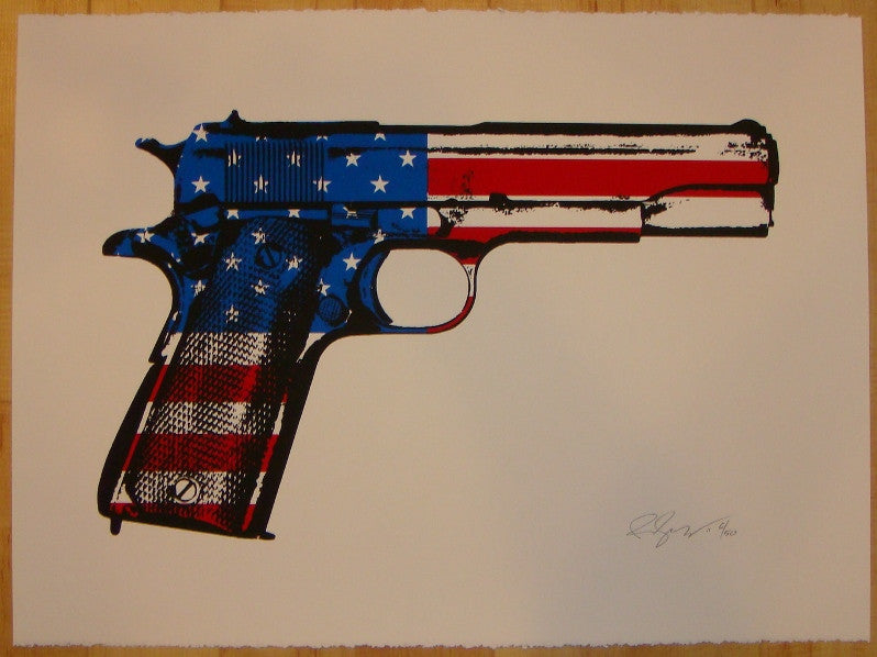 2011 The American Way - Silkscreen Art Print by Rene Gagnon