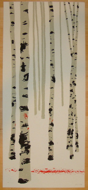 2004 The White Birches - Silkscreen Art Print by Dan McCarthy
