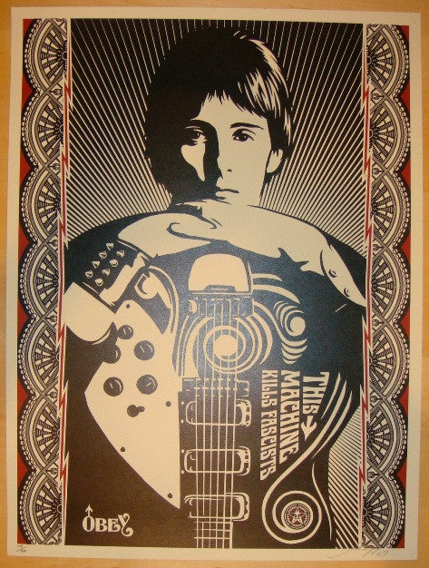 2007 This Machine Kills Fascists - Art Print By Shepard Fairey