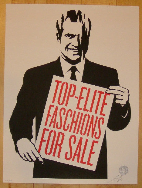2011 Top Elite Faschions - Silkscreen Print by Shepard Fairey