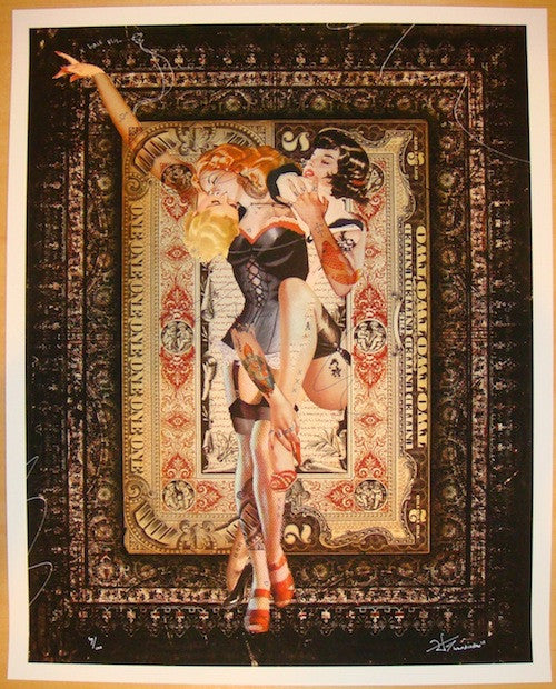 2012 Triangle Amoureux No. 1 - Giclee Art Print by Handiedan