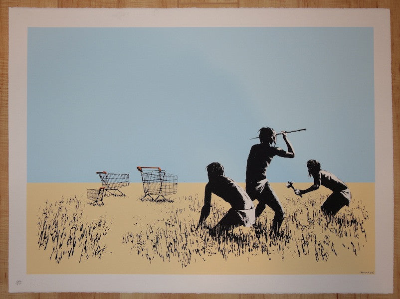 2007 Trolleys - Color Silkscreen Art Print Signed by Banksy w/ COA