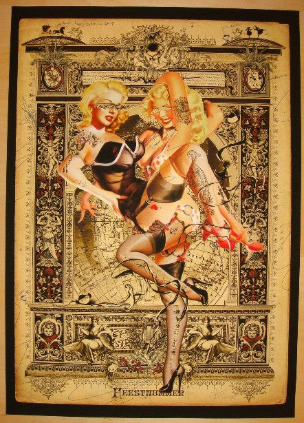 2010 Two Blondes No. 1 - Giclee Art Print by Handiedan