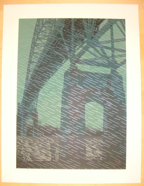 2007 Under The Bridge - Silkscreen Art Print by Dan McCarthy