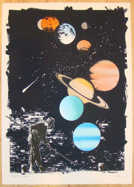 2012 Universal Paint - Silkscreen Art Print by Static
