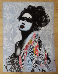2013 Unseen 1 - Hand-Finished Silkscreen Art Print by Hush