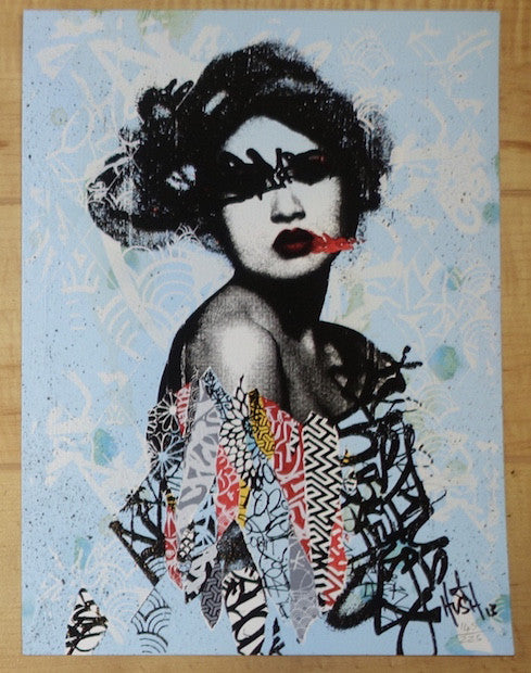 2013 Unseen 2 - Hand-Finished Silkscreen Art Print by Hush