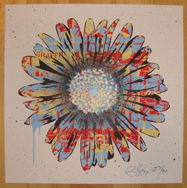 2010 Urban Flower - Silkscreen Art Print by Rene Gagnon