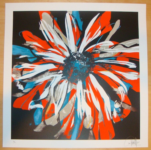 2012 Valle Flor - Silkscreen Art Print by Dave Kinsey
