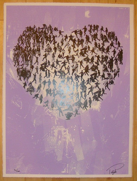 2011 Waiting Kills - Purple Silkscreen Art Print by Prefab