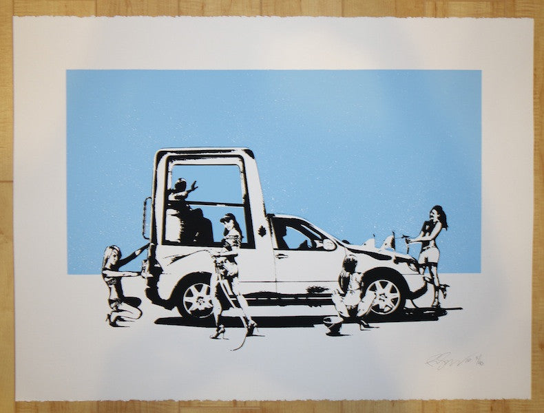 2010 Wash It Away - Silkscreen Art Print by Rene Gagnon