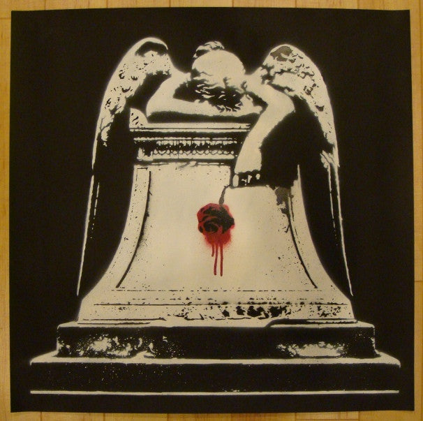 2008 Weeping Angel - Stencil Art Print by Grafter
