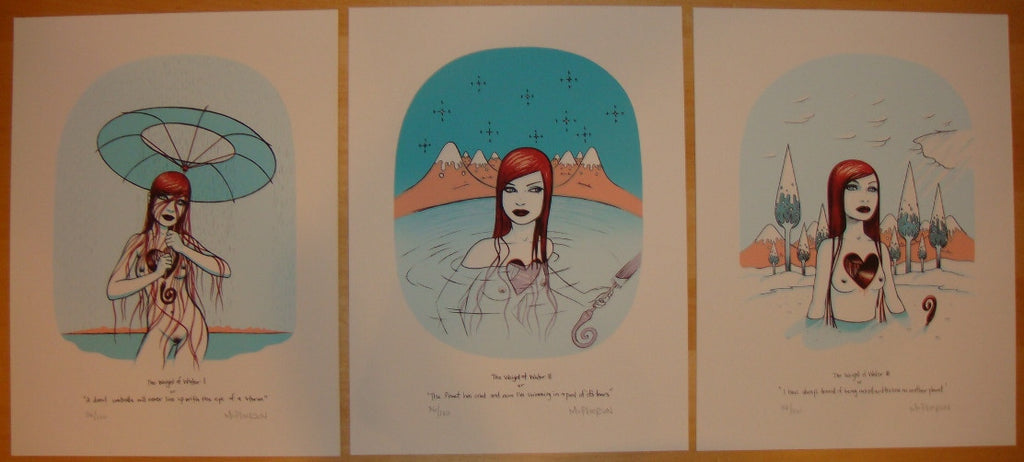 2008 Weight of Water Set - 3 Art Prints by Tara McPherson