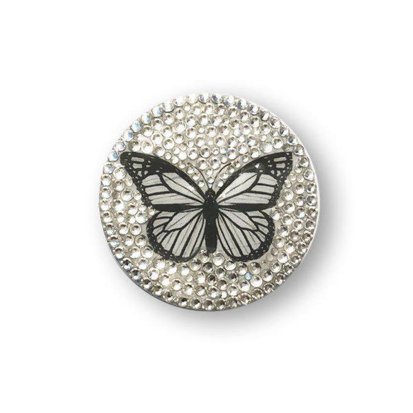Crystal Butterfly PopSocket, made with Swarovski Crystal-Popsocket-Mulberry Rose
