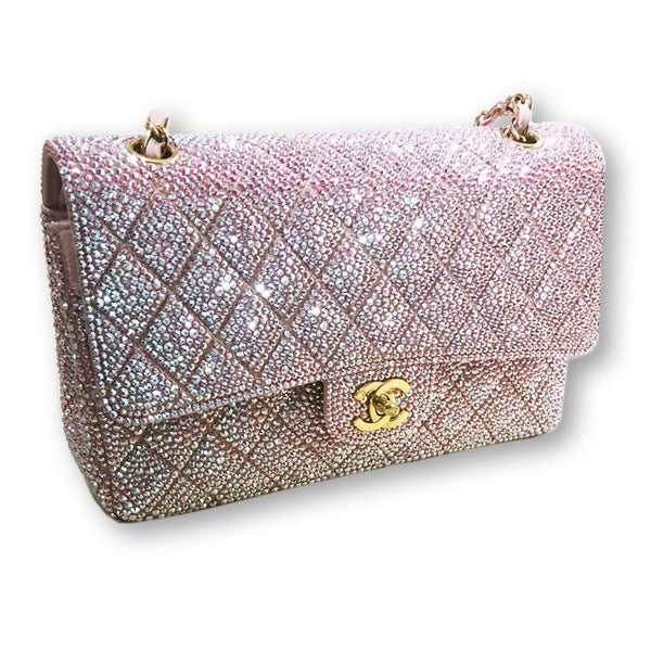 Swarovski Crystal Covered Chanel Purse-Handbag-Mulberry Rose