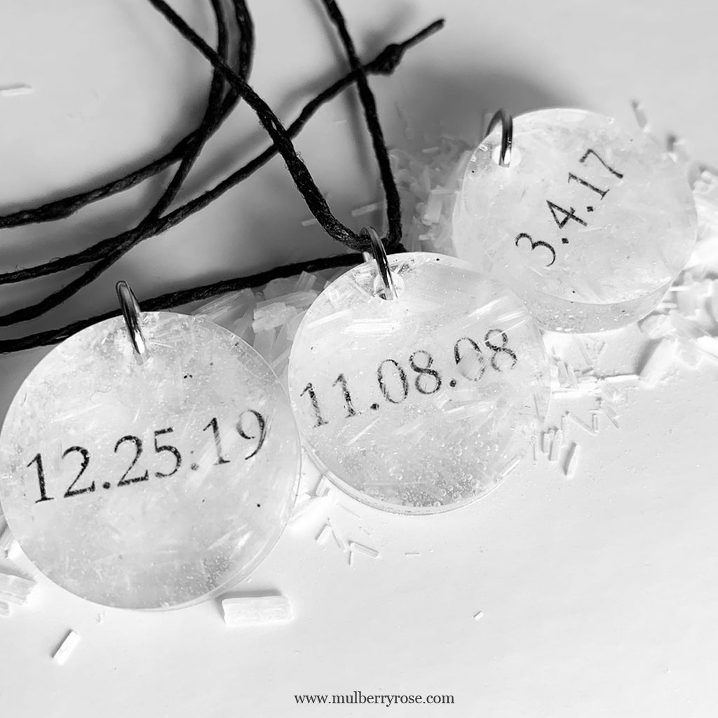 "mylittlecrystal - ""Date Set in Stone"" Custom Selenite Crystal"