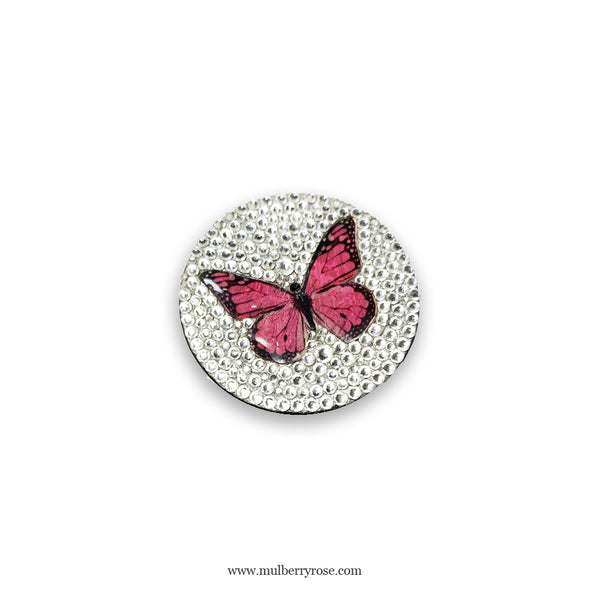 Crystal Butterfly PopSocket, made with Swarovski Crystal