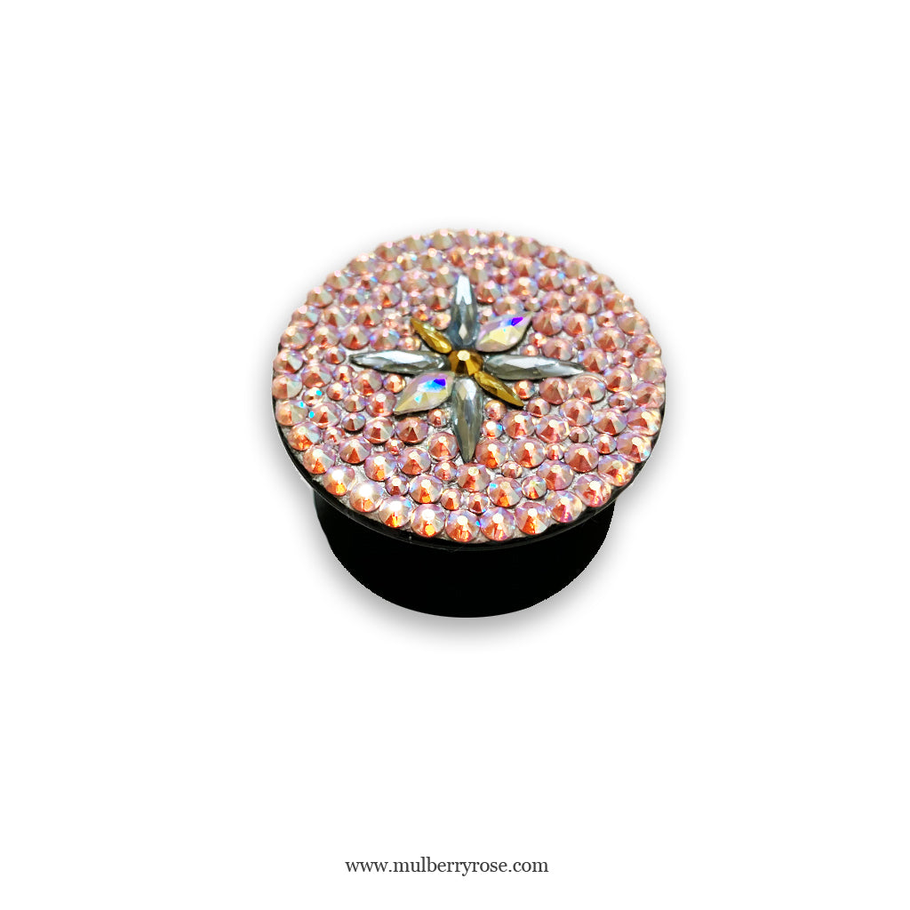 mylittlecrystal - Pink Starburst Crystal PopSocket made with Swarovski Crystal Elements