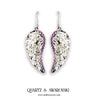 mylittlecrystal - Clear Quartz and Swarovski Crystal Angel Wing Earrings