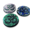 Malachite, Amethyst, and Lapis Lazuli Crystal Shield Stickers, set of 3