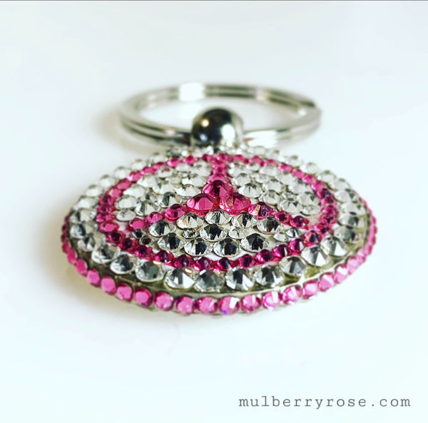 Swarovski Crystal Keychain- Custom Made to order