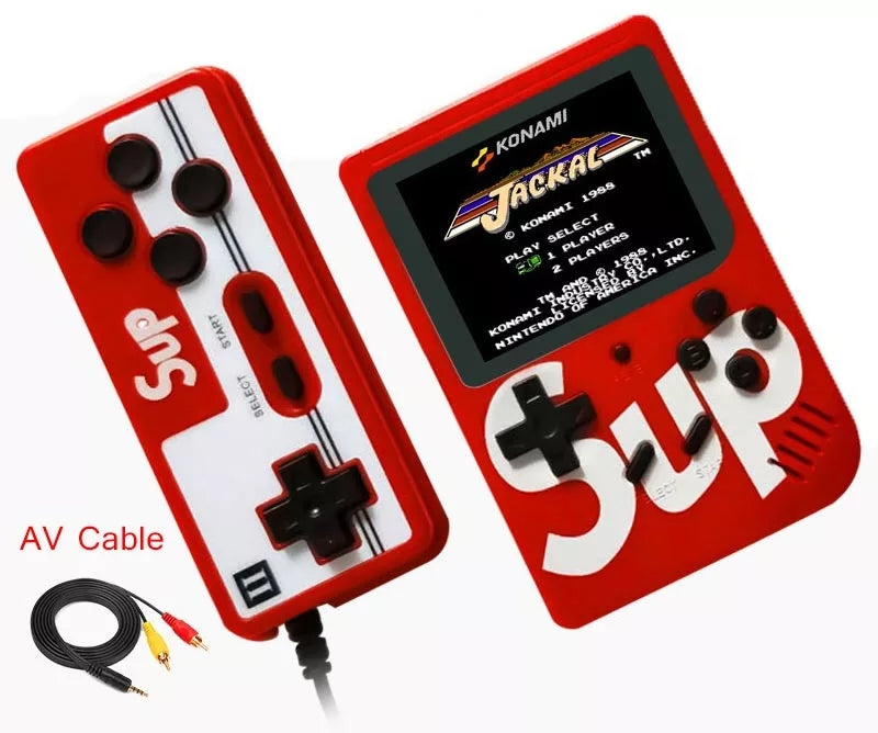SUP RETRO HANDHELD GAME CONSOLE WITH GAMEPAD AND RCA HOOKUPS