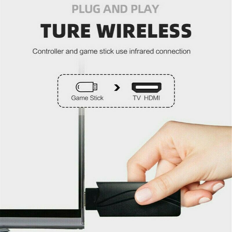 WIRELESS HDMI MINI GAME CONSOLE STICK WITH 818 BUILT-IN GAMES