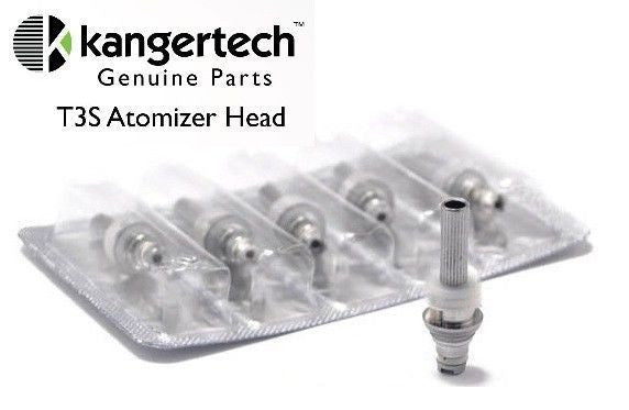 KANGERTECH T3S (TOCC JAPANESE ORGANIC COTTON WICK OPTIONS AS WELL AS ORIGINAL) MT3S 5PK REPLACEMENT COILS