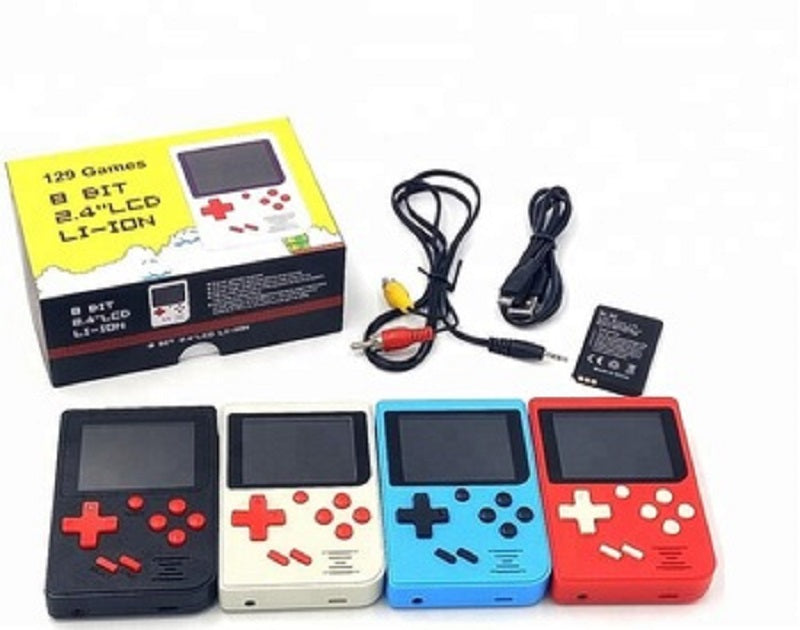 "HANDHELD 129 GAME BUILT-IN GAME CONSOLE WITH 2.4"" LCD 8 BIT POCKET GAME PLAYER"