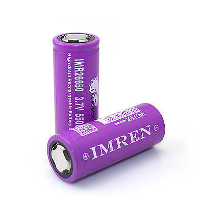 IMREN MAX 60A 5500MAH 26650 PURPLE LION HIGH DRAIN RECHARGEABLE BATTERY
