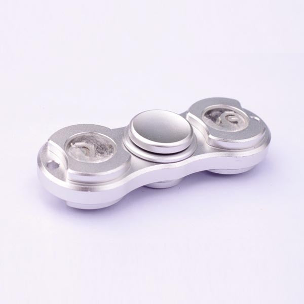 LED LIGHT ALUMINUM METAL HAND SPINNER FIDGET DESK TOY