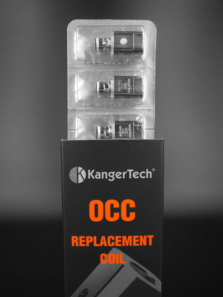 KANGERTECH NEW UPGRADED SUB-OHM OCC (ORGANIC COTTON COIL) * VERTICAL * REPLACEMENT COILS .2OHM, .5OHM, 1.2OHM, OR 1.5OHM