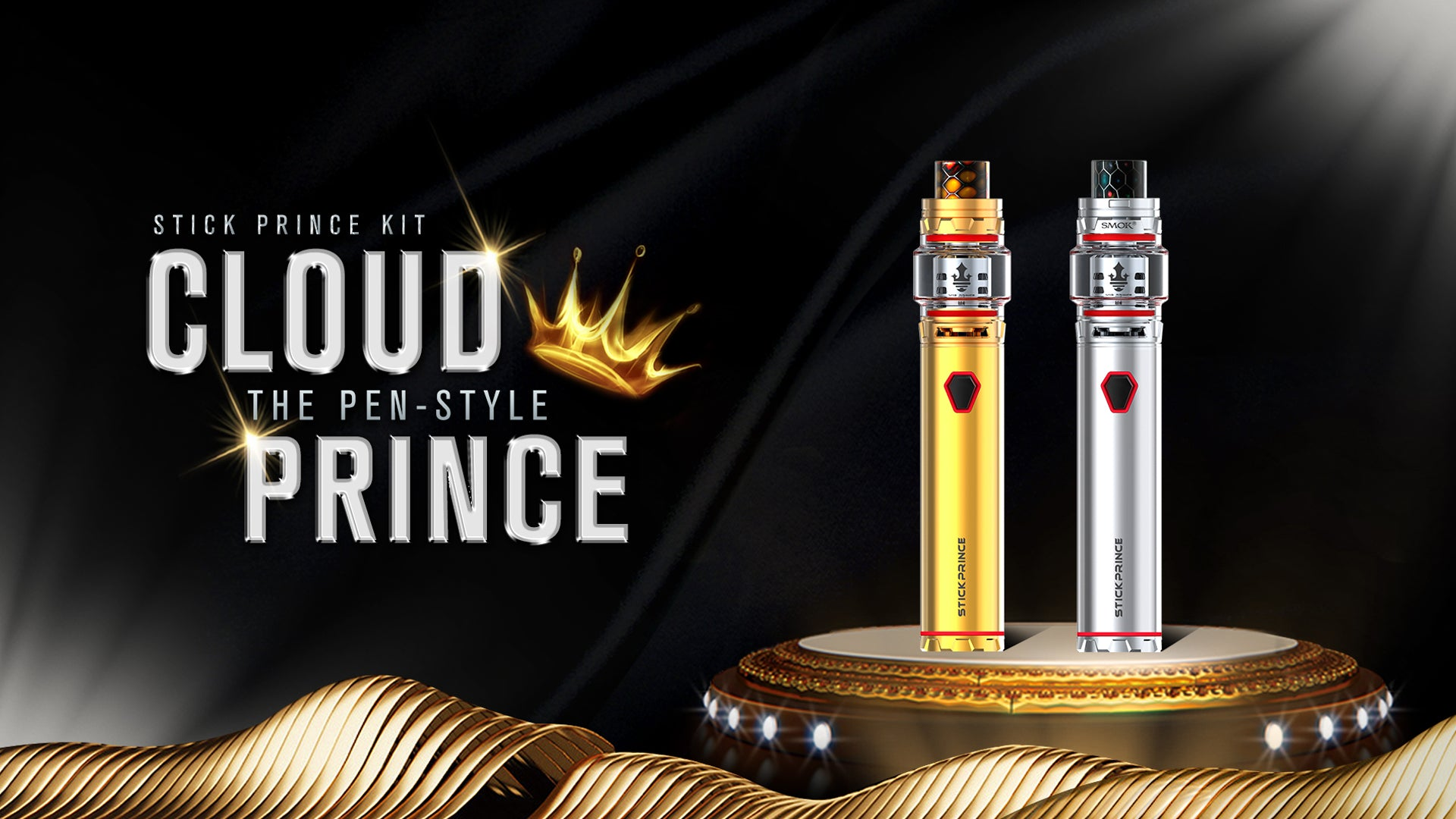 SMOK STICK PRINCE KIT 3000MAH MOD BATTERY AND TFV12 PRINCE 8ML TANK STARTER KIT