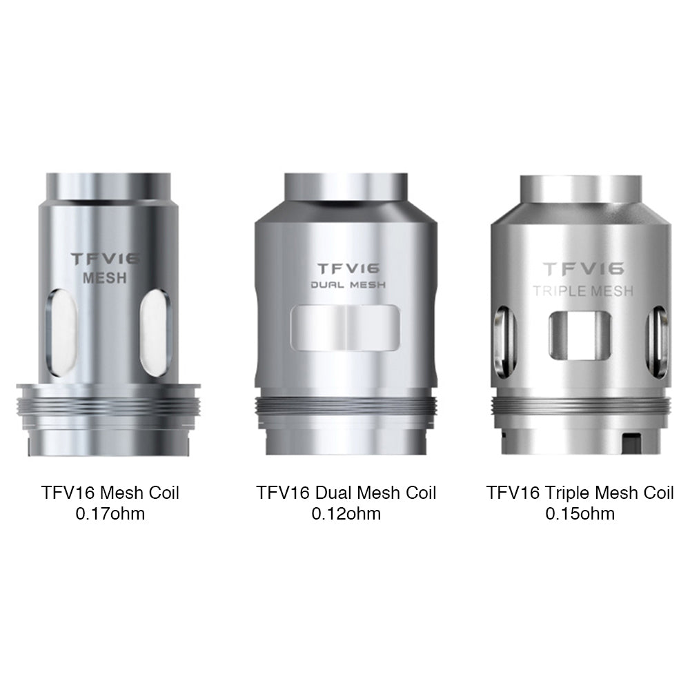 SMOK TFV16 REPLACEMENT COILS - MESH, DUAL MESH, & TRIPLE MESH OPTIONS (3PCS)
