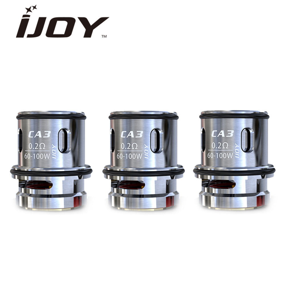 IJOY CAPTAIN SUB-OHM REPLACEMENT COILS 3 PACK CA2, CA3, CA8 OPTIONS