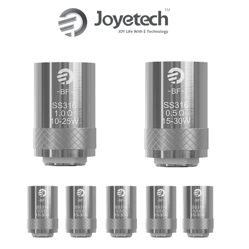JOYETECH CUBIS, CUBOID MINI / AIO COMPATIBLE REPLACEMENT COILS 5 PACK (SS, NOTCH, CLAPTON, NI200, TITANIUM)