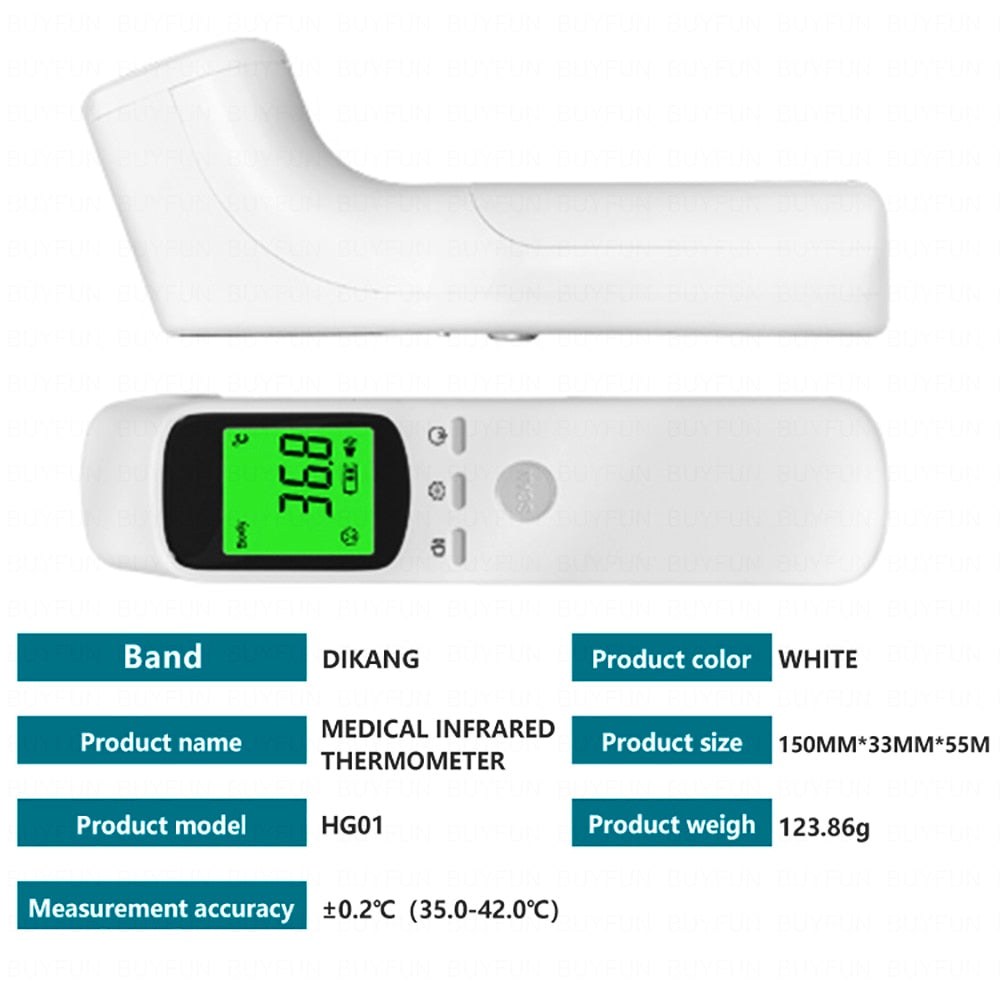 INFRARED DIGITAL FOREHEAD NO TOUCH THERMOMETER FDA CE CERTIFIED