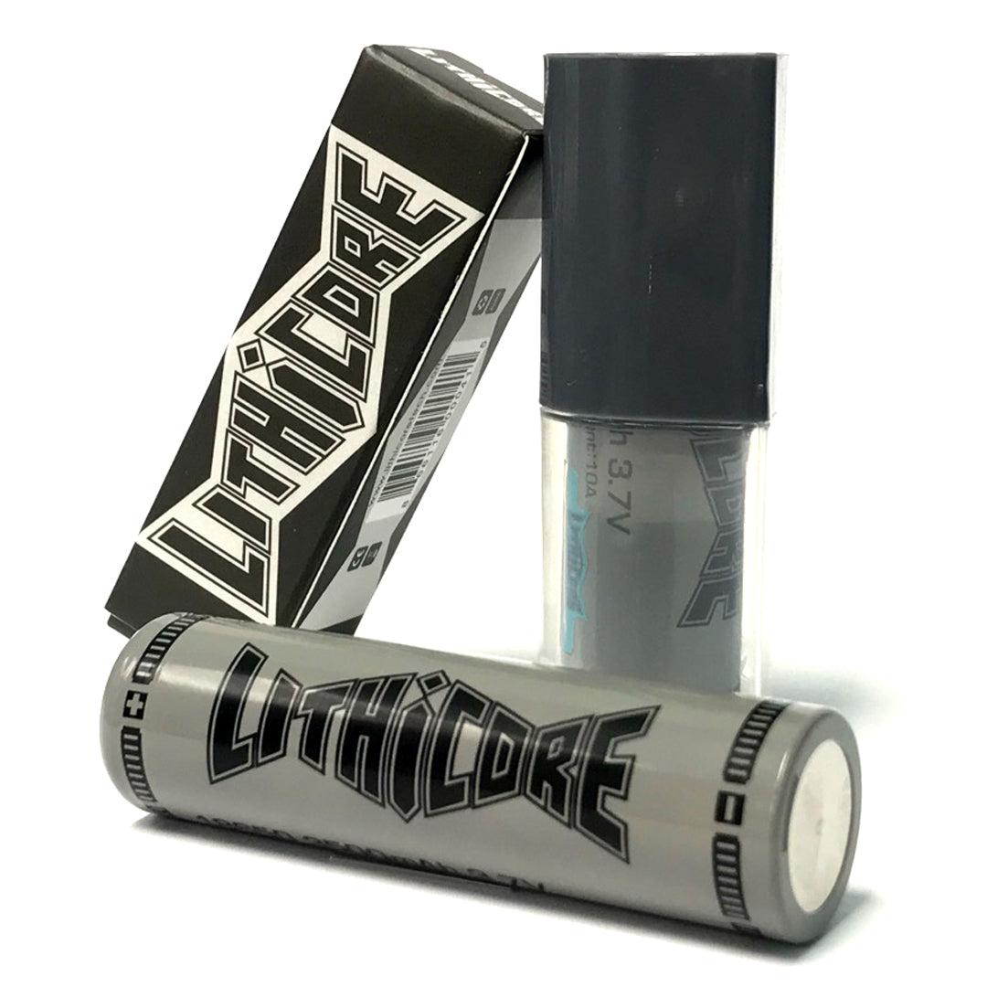 LITHICORE IMR 18650 LiMn 3500MAH 20A MAX PULSE 10A CONTINUOUS RECHARGEABLE BATTERY ACCESSORY