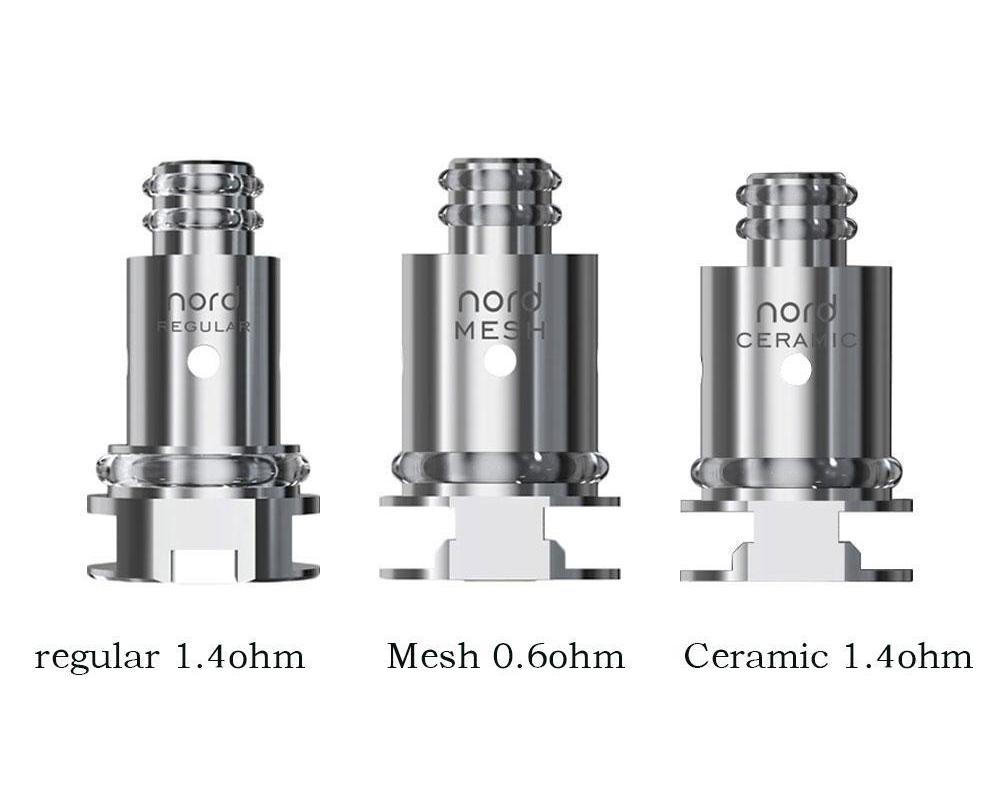SMOK NORD POD KIT REPLACEMENT COILS 5 PACK (0.6OHM MESH, 1.4OHM REGULAR, & 1.4OHM CERAMIC)