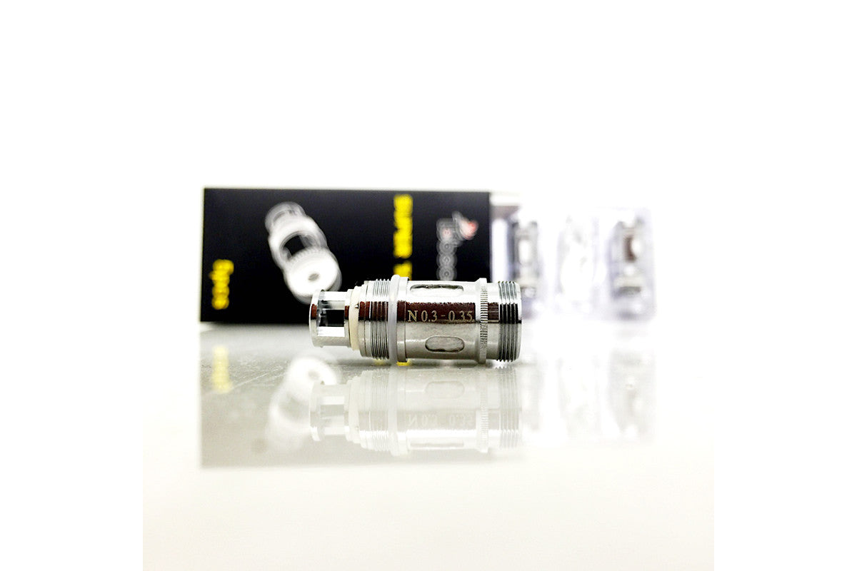 5pk OF TOBECO AUTHENTIC SUB OHM SUPERTANK / SUPER TANK MINI REPLACEMENT COILS (MESH OPTION AVAILABLE!)