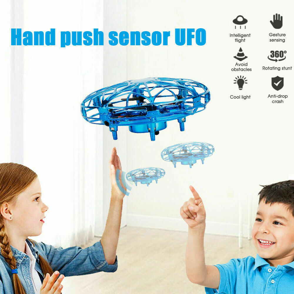 MINI DRONE INFRARED SENSOR UFO FLYING TOY INDUCTION AIRCRAFT QUADCOPTER