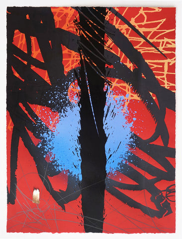"""RED AND BLACK"" New Hand Embellished Serigraph Edition"