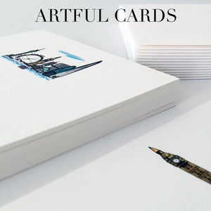 City and landmark themed stationery notecards.