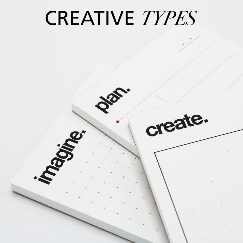 Creative Themed Notepads and Sketchpads