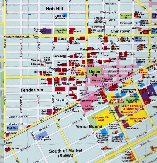 San Francisco map with Moscone Convention Center area for the American Academy of Pediatrics in 2007 annual meeting.