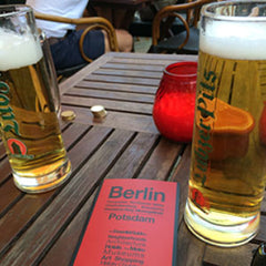 Beers and map in Berlin Tiergarten